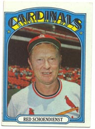 1972 Topps Baseball Cards      067      Red Schoendienst MG